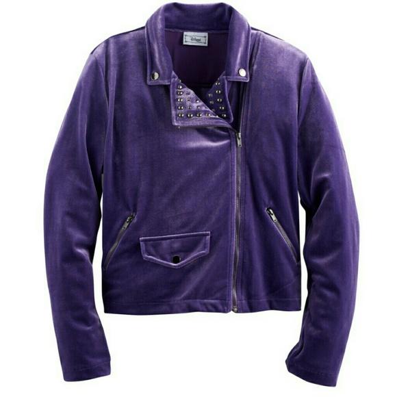 price hot-selling authentic elegant shape Disney D-Signed Purple moto jacket NWT